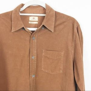 Ag Adriano Goldschmied Shirts - AG Adriano Goldschmied Brown Corduroy Button Down